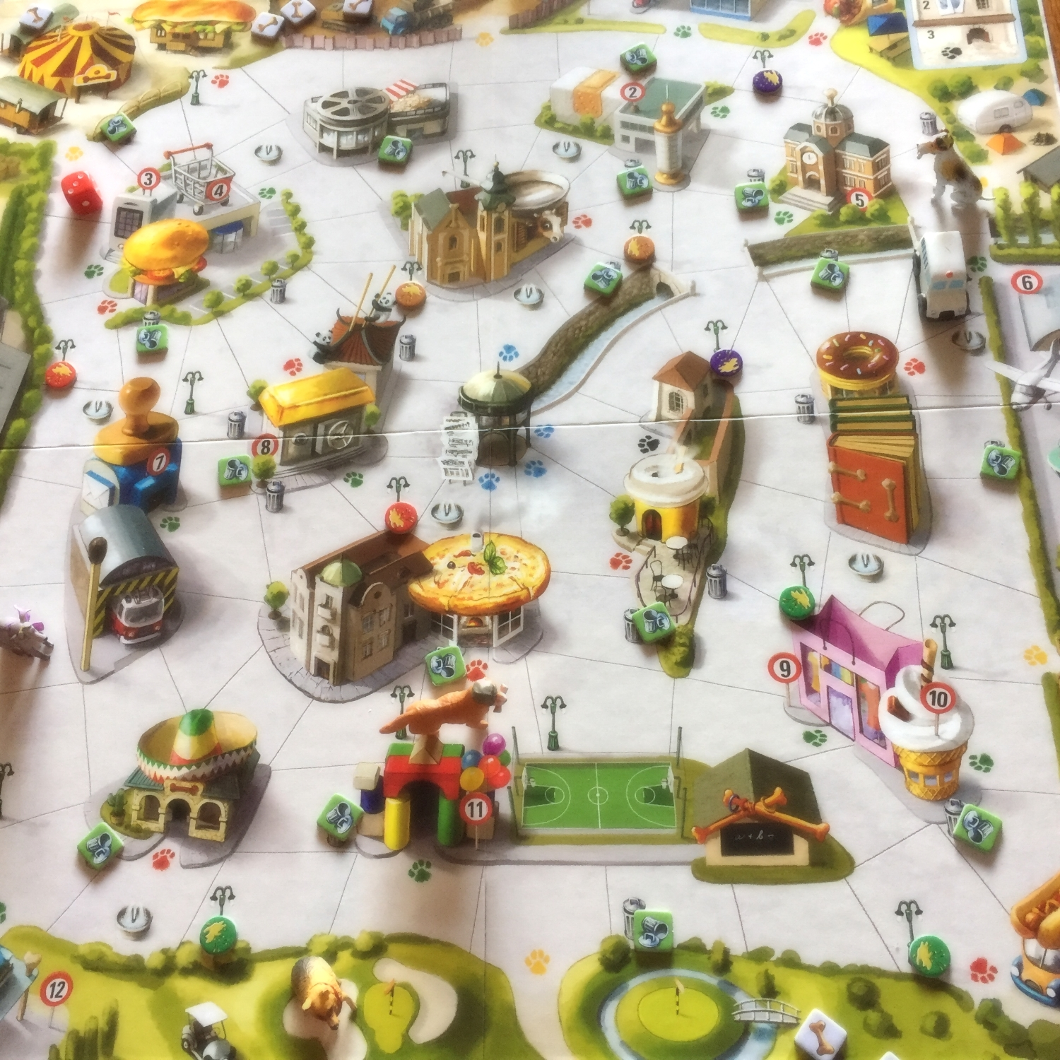 Can someone please turn this game board into an amusement park?