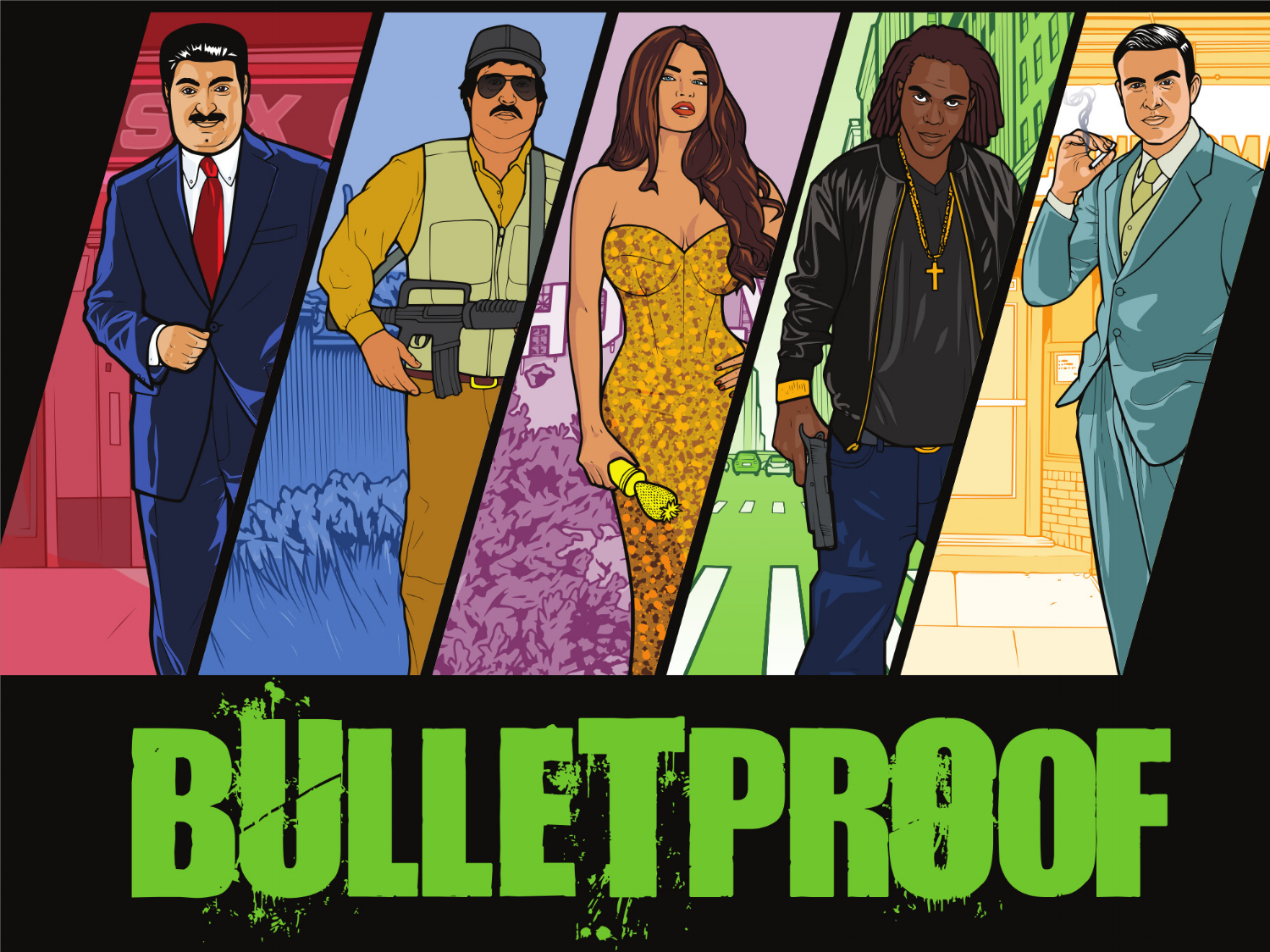 It's like Goodfellas meets Boyz in Tha Hood meets Grand Theft Auto meets the Godfather, with cards.