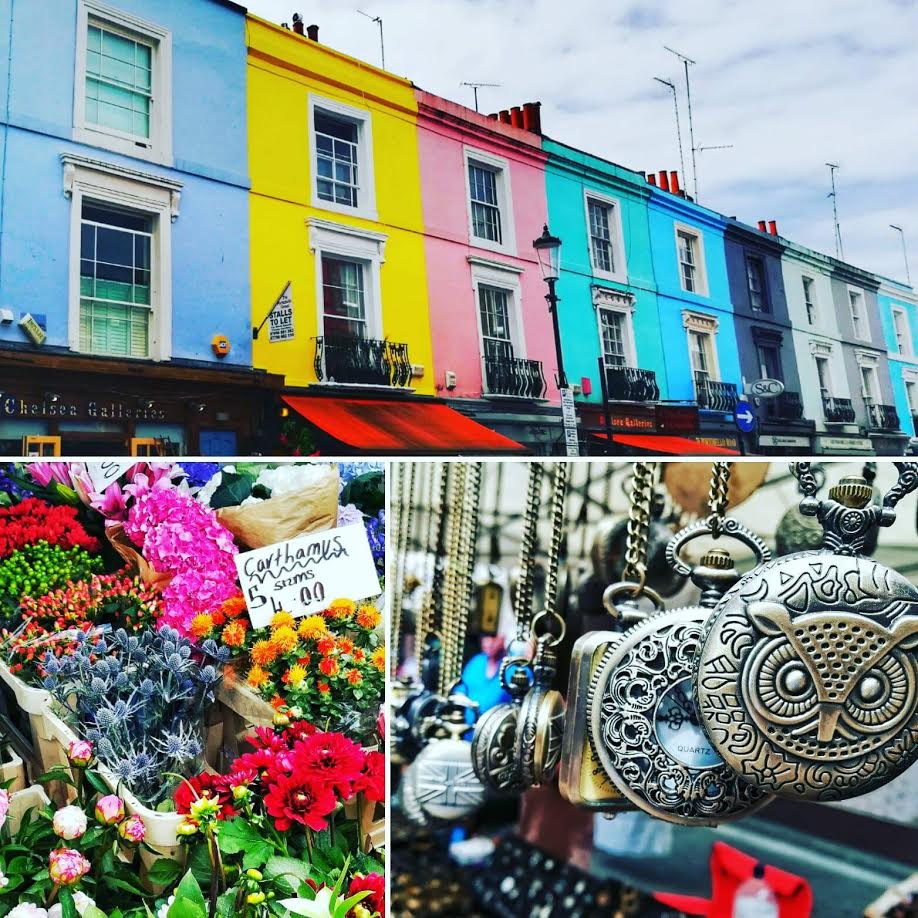 The beautiful colours and details of the Portobello Road markets