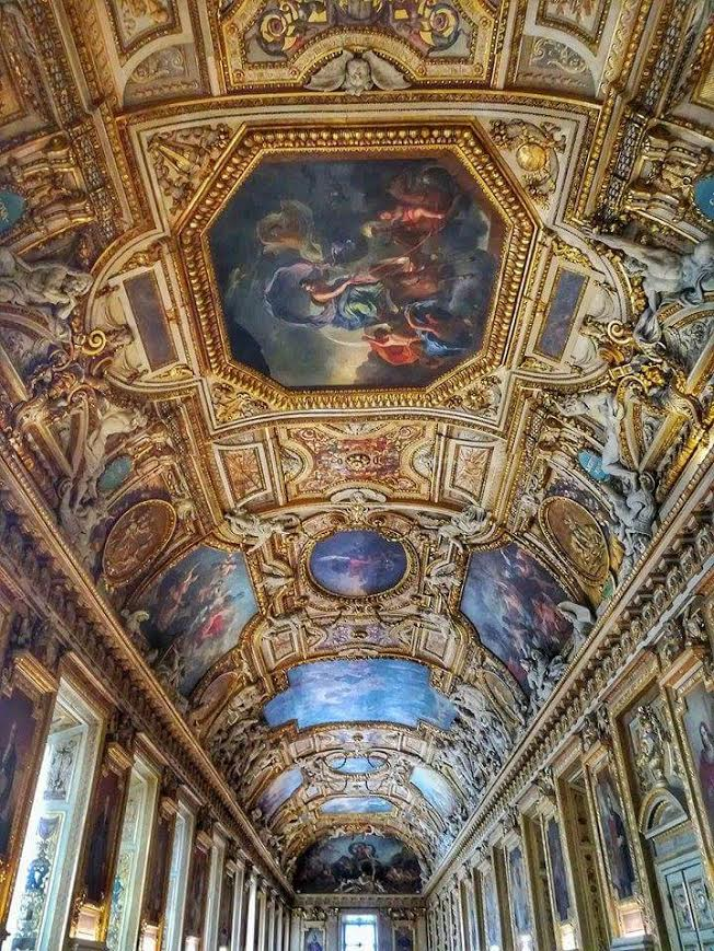The ceiling of one of the Louvre Museum wings....which I now want in my home!!! Lol.