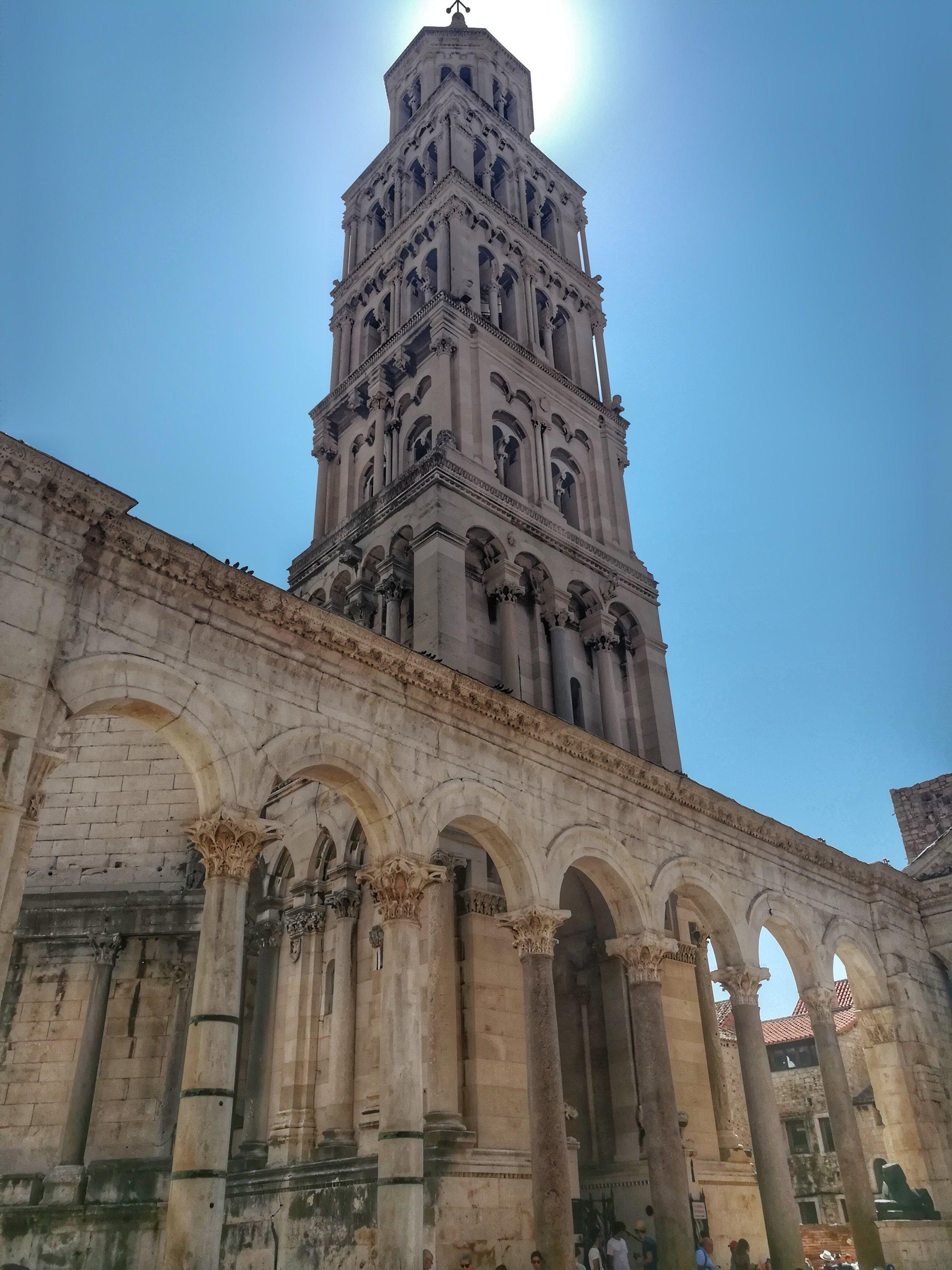 The historic Roman architecture