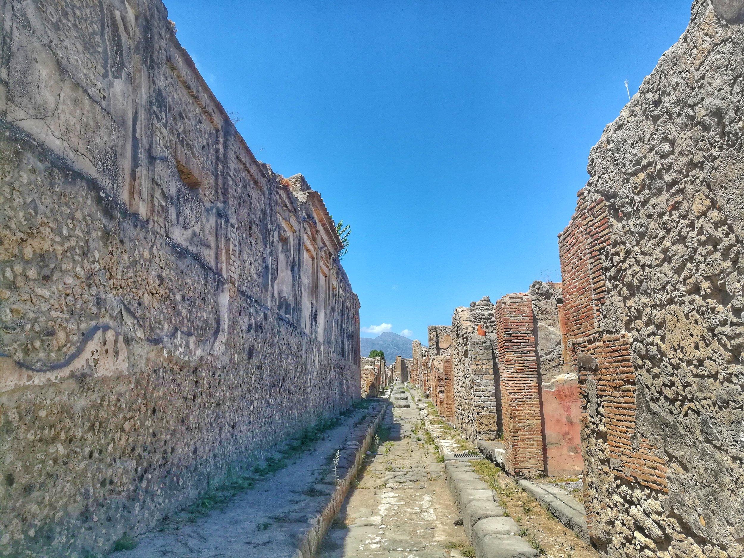 The Pompeii ruins