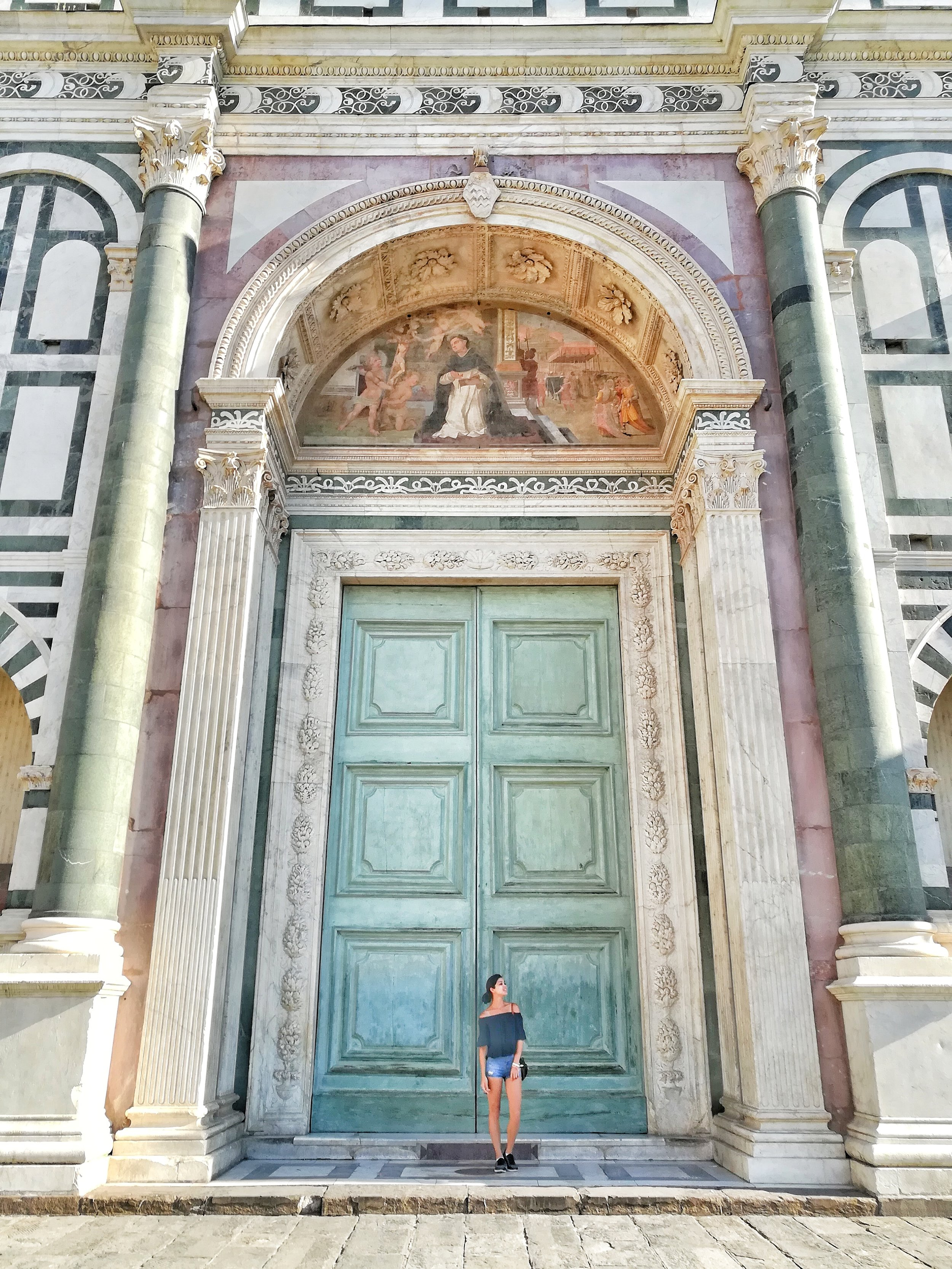The massive beautiful door of Santa Maria Novella church (I know similar name, different building. It confused me too. They must really like Santa Maria )