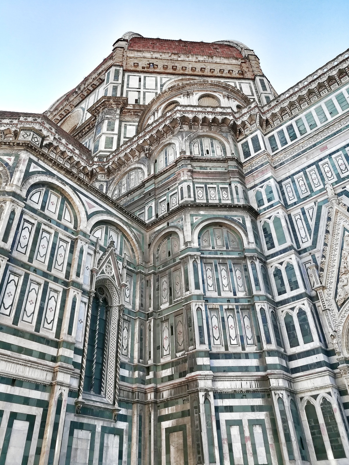 The Santa Maria del fiore church has the largest brick dome ever constructed, also known as The Duomo