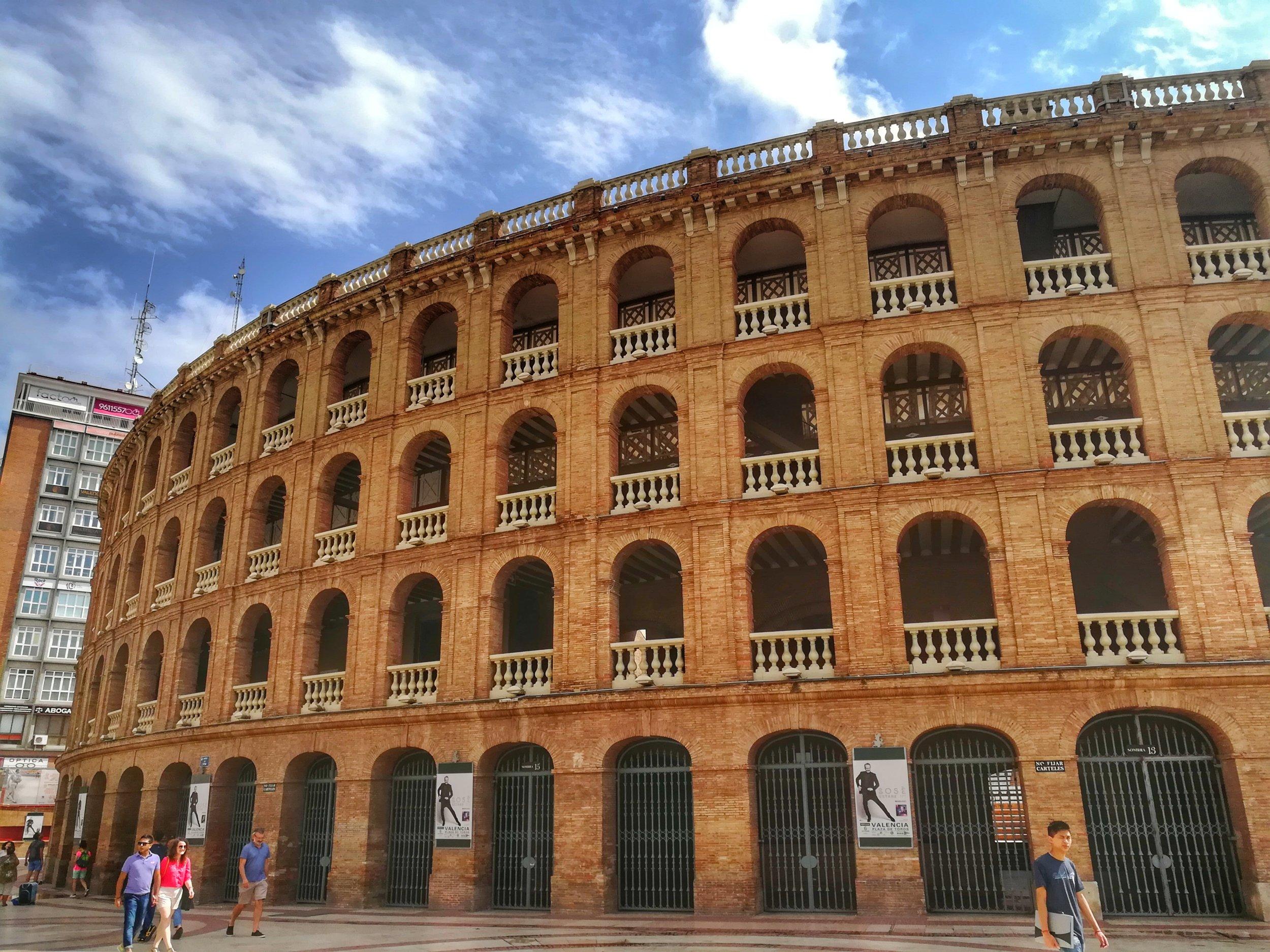 The bullfighting arena