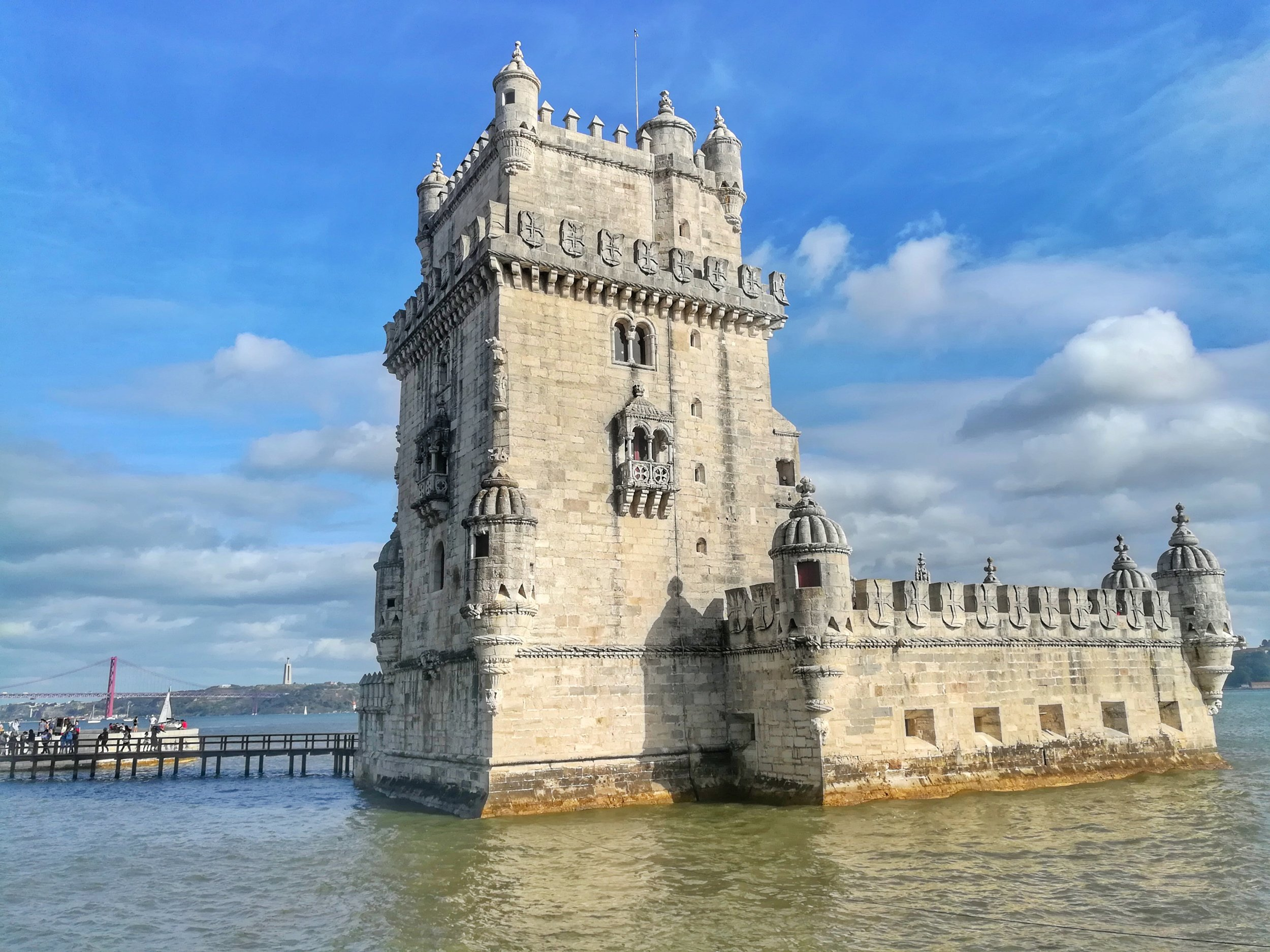 The medieval defensive Belem tower.