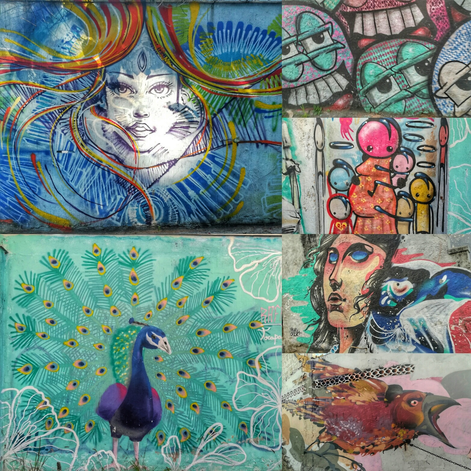 Streets full of artworks like these. Never a boring street!