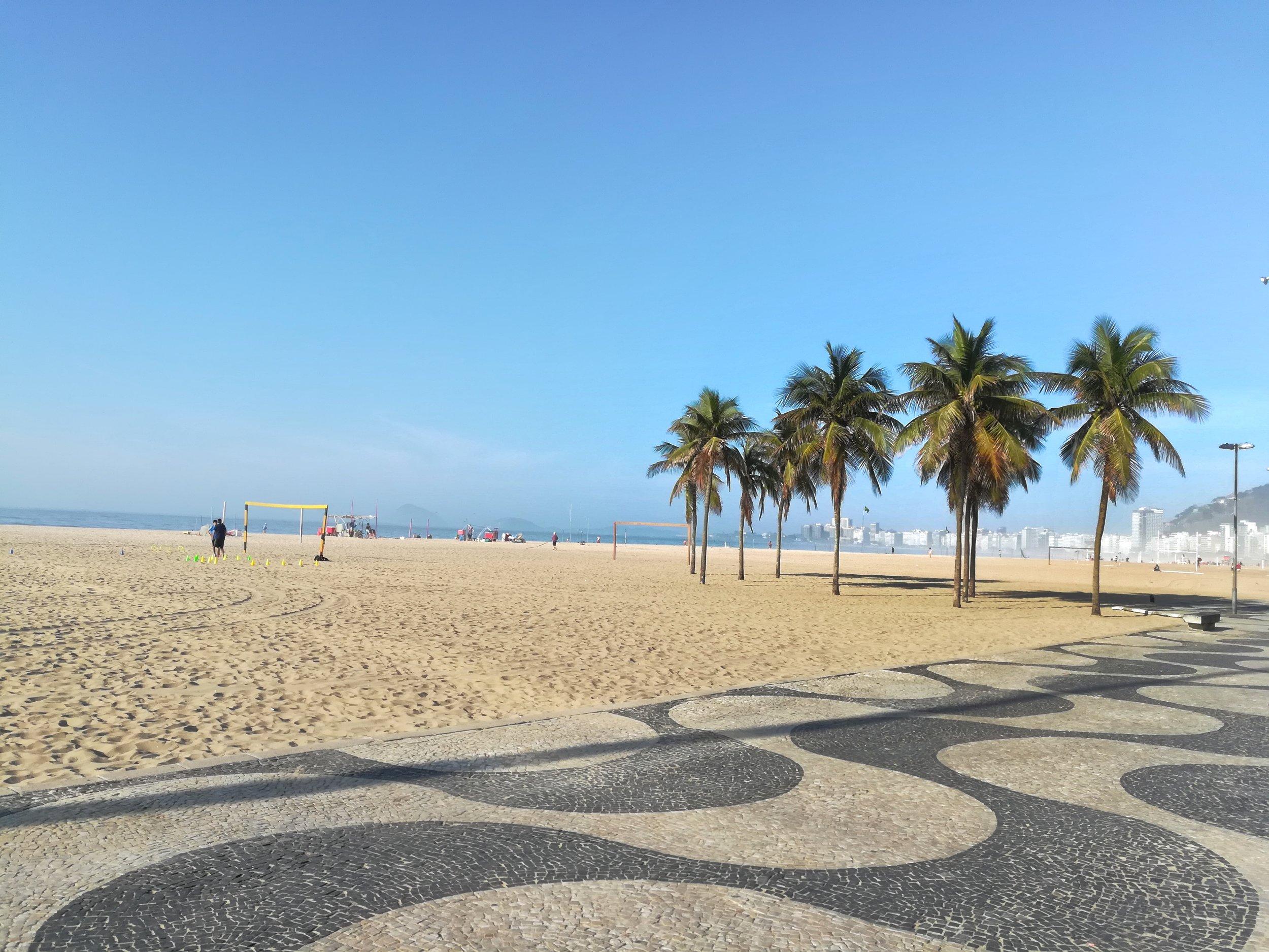 Endless Copacabana beach