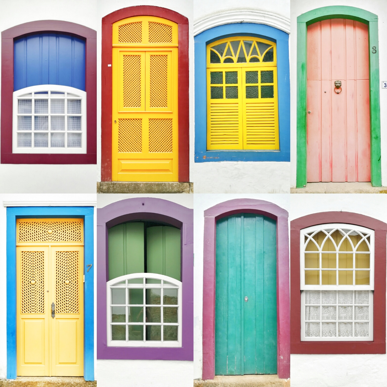So many fun and colourful windows and doors throughout Paraty! The roads were so bad you would break an ankle looking up while walking to look at these beauties!