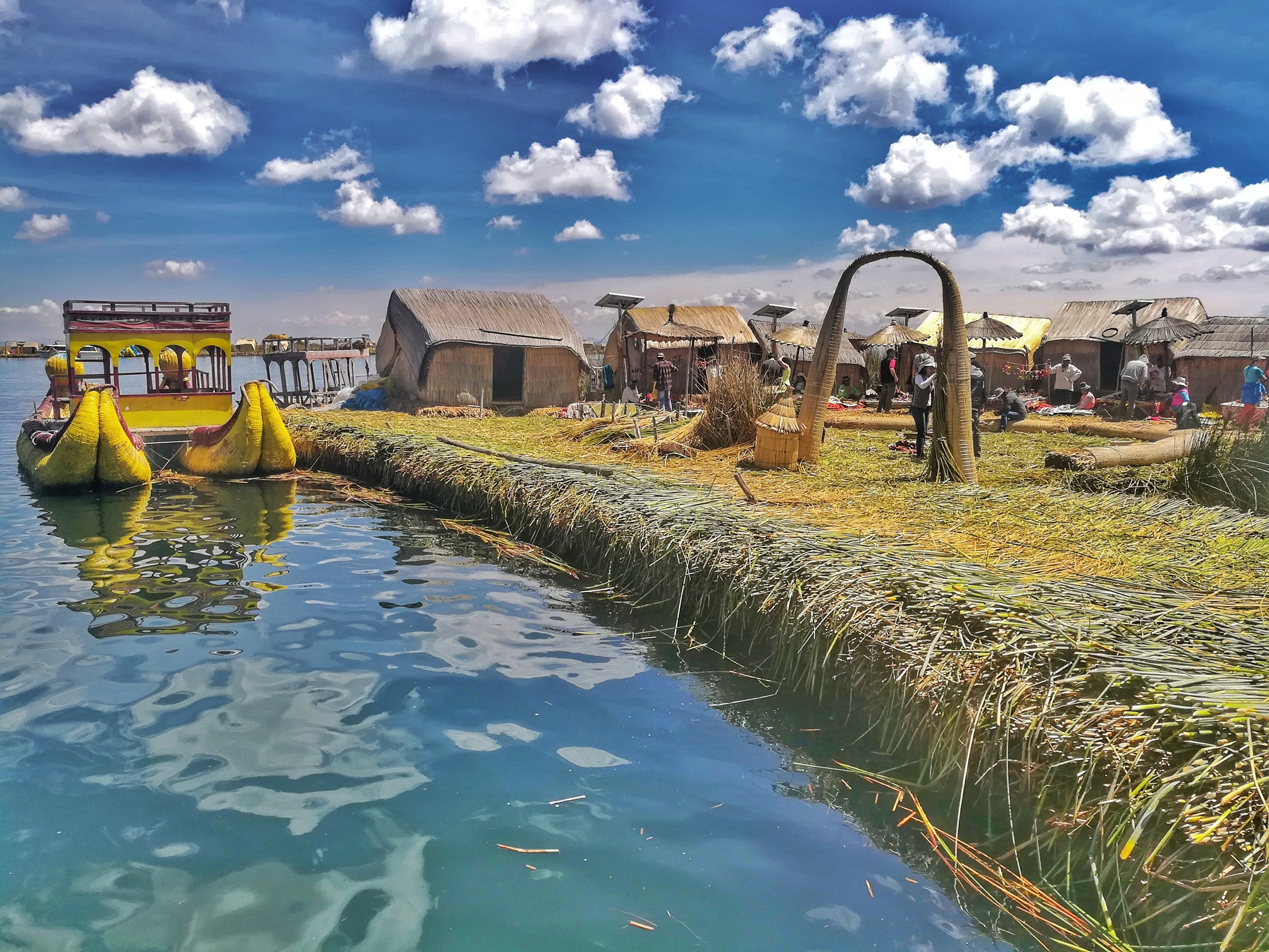Everything on Uros Islands (including the island itself) is made by hand by the few families that live on it.