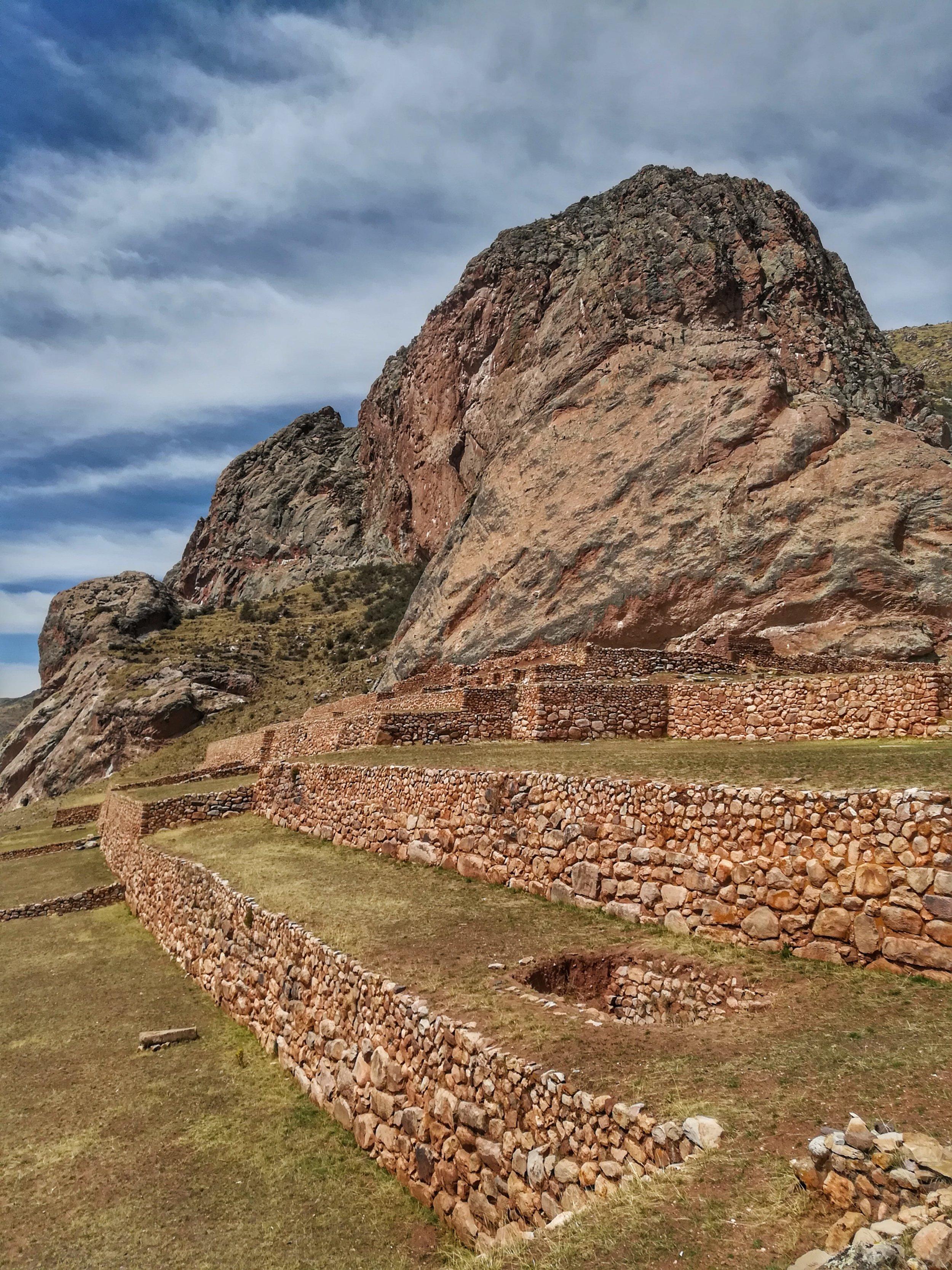 Pre Inca ritual site
