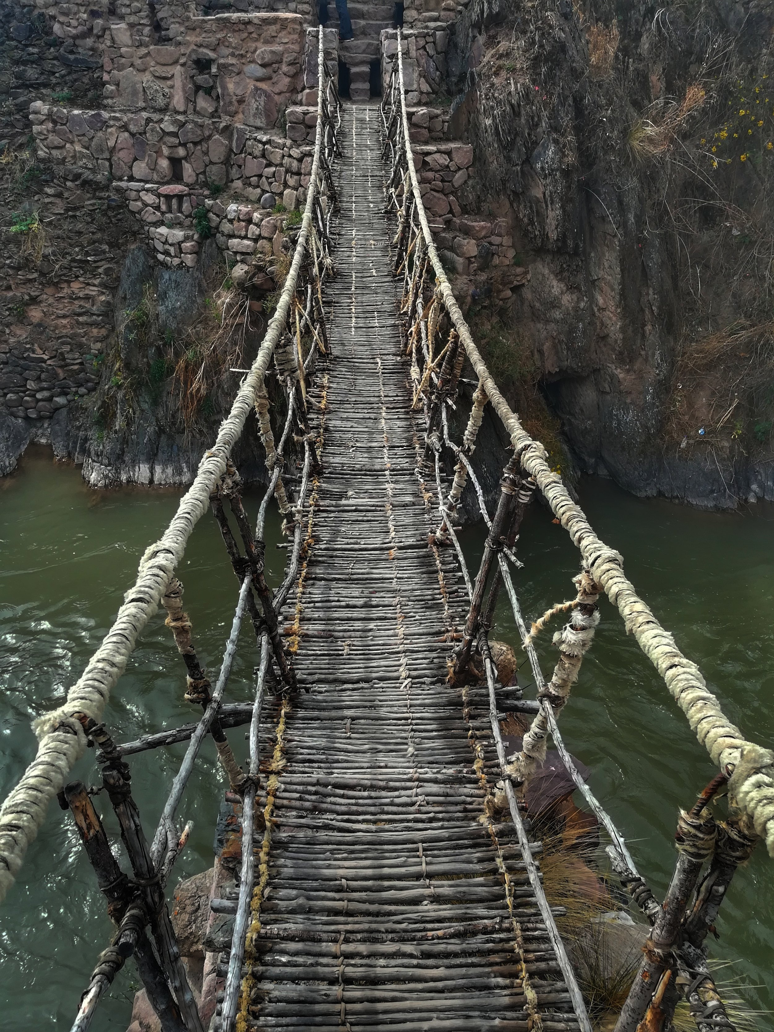 Inca bridge we walked on!