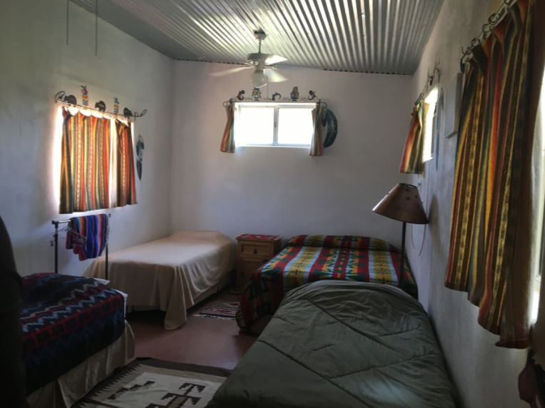 Inside the Casitas, our living accommodations, at MCSW 2018 — Mindcamp Southwest
