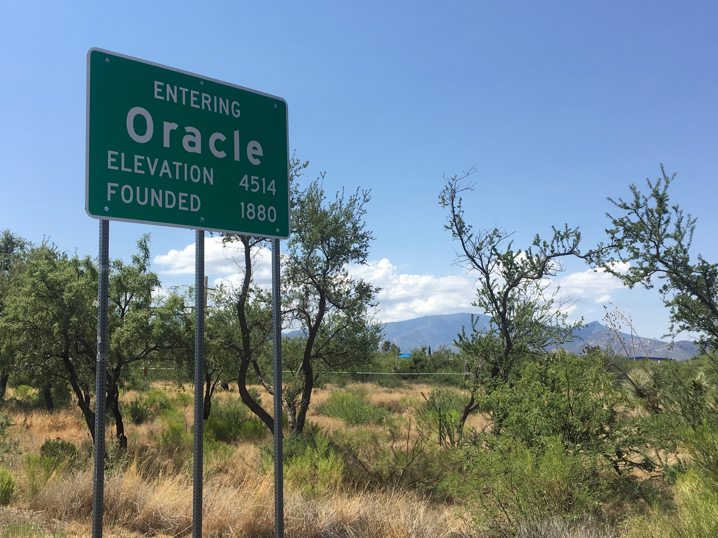 Fun facts about Oracle, Arizona: - Buffalo Bill Cody owned a gold mine in Oracle briefly.Oracle is the location of the Biosphere 2 experiment.Oracle was the postal address for environmentalist author Edward Abbey, who never lived in Oracle often visited.The Arizona Trail passes through Oracle.Oracle is the gateway to the road up the