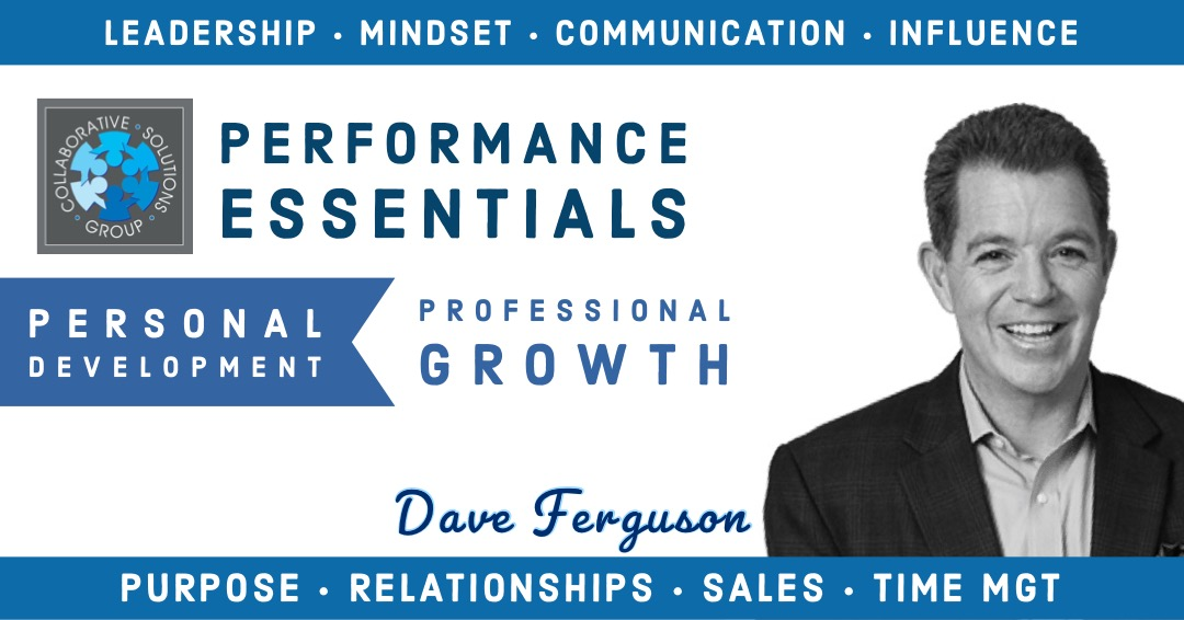 Dave Ferguson - Dave Ferguson is an internationally respected executive coach, speaker, trainer, and author, in the areas of leadership, sales, and personal development.