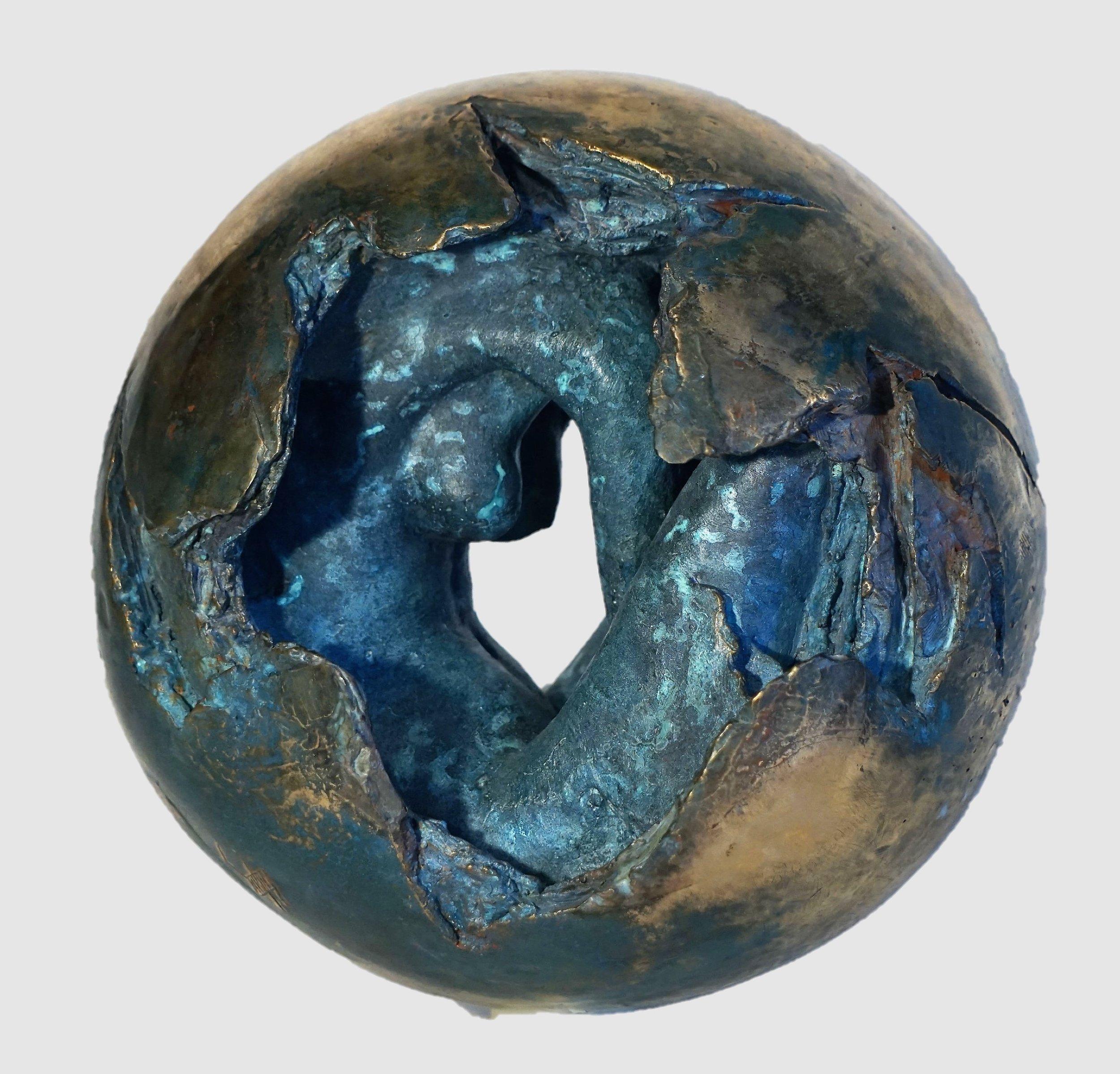 "Eric Saint Georges    Rebirth   Sculpture  Size: 10 x 10""  $6,900.00"