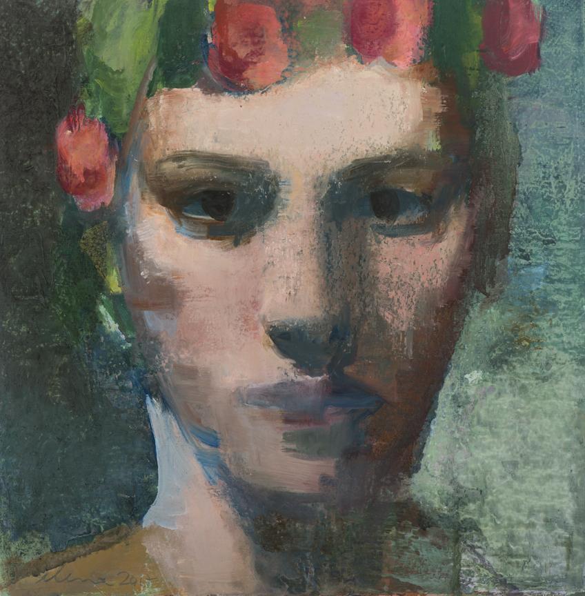 "SPRING   Oil painting on Paper  by Elena Zolotnitsky  Size: 12 x 12""   $3,200.00"