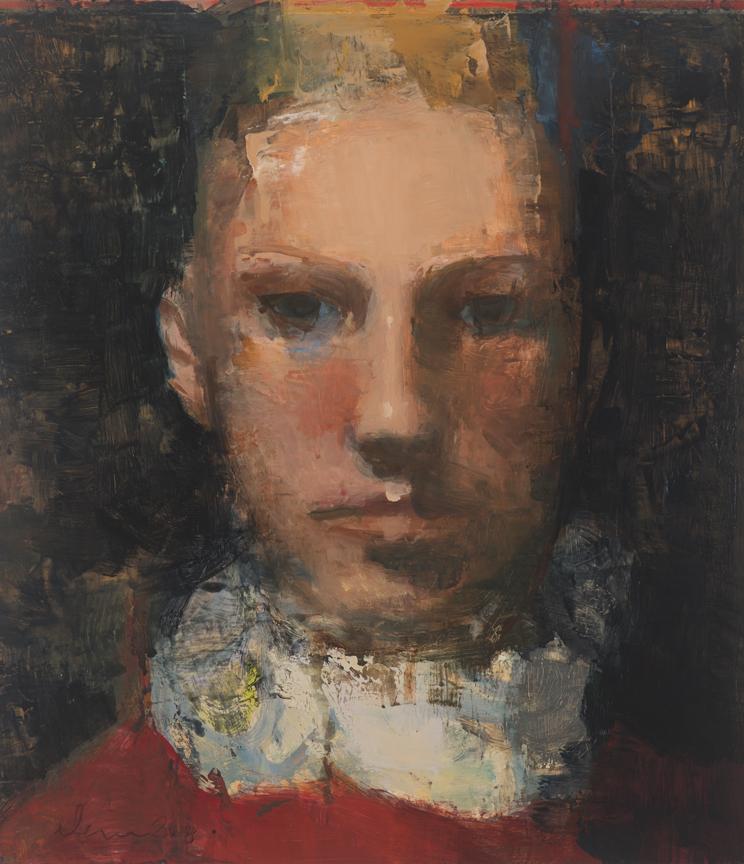 "CAPRICHO #2   Oil painting on Panel / Board / MDF  by Elena Zolotnitsky  Size: 14 x 16""   $4,000.00"
