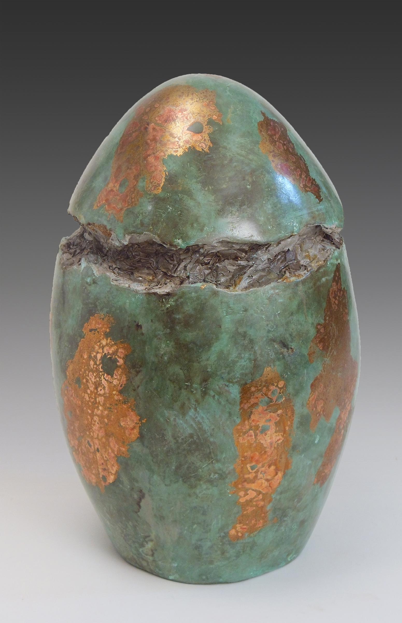"Canopic Jar   Sculpture  by Dan Woodard  Size: 8 x 13""   $650.00"