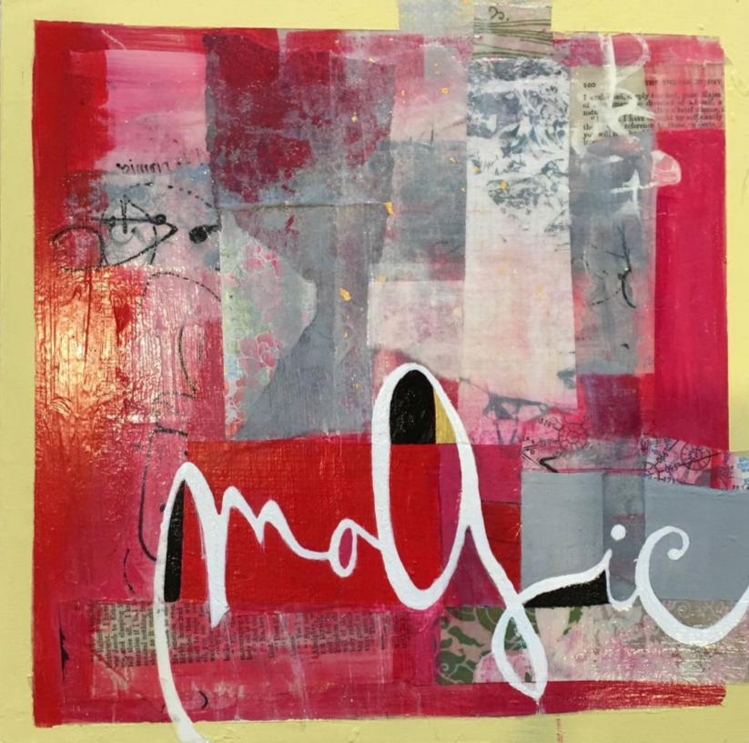 """White Magic   Mixed-media painting on Panel / Board / MDF  by  Susan Richardson   Size: 12 x 12""""    $350.00"""