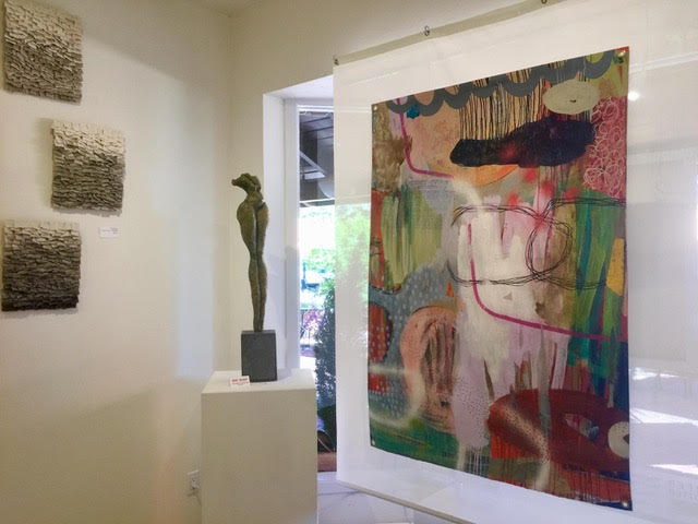 2017 Group exhibit at Jennifer Perlmutter Gallery, with Victoria Huckins on right