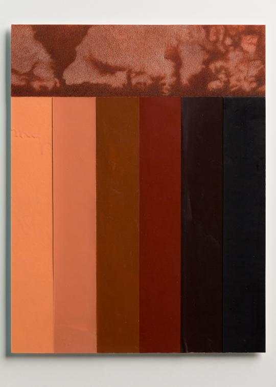 "Pilar Aguero-Esparza    Spectrum   Crayon, color pencil, paper, on mixed media board 20""x 17""(framed)    $350"