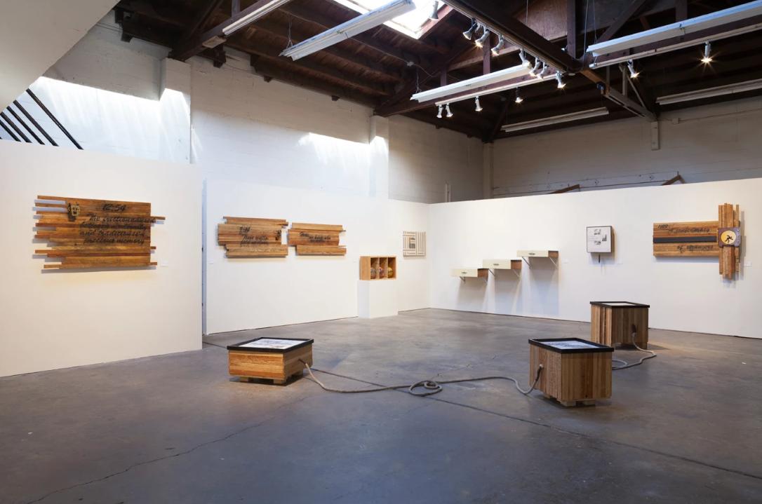 Between Walls and Ceilings  installation at Recology San Francisco, CA