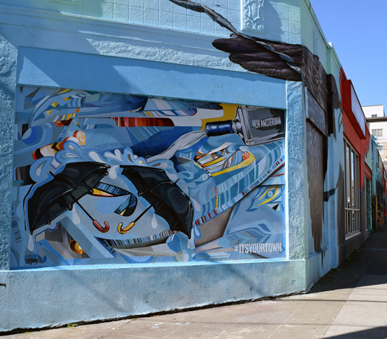 John Osgood Mural    New Amsterdam Vodka Commission    Size: 9 x 16 feet    Seattle, WA