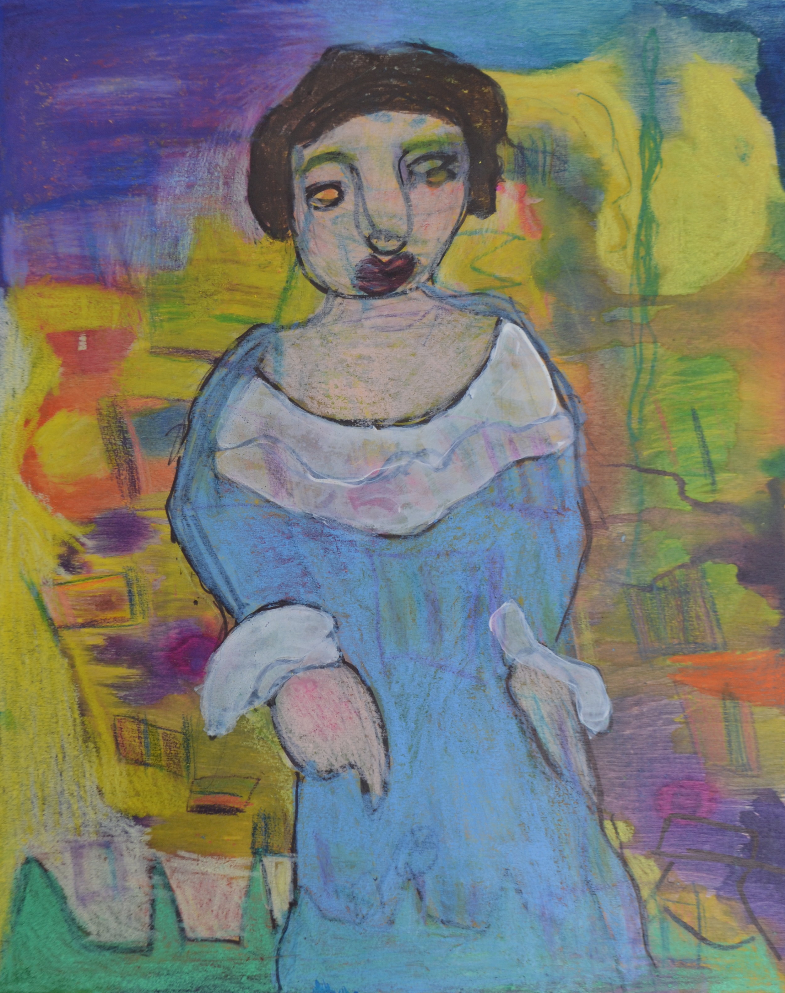 Lady with Blue Cakes ,  by Kellie Greenwald