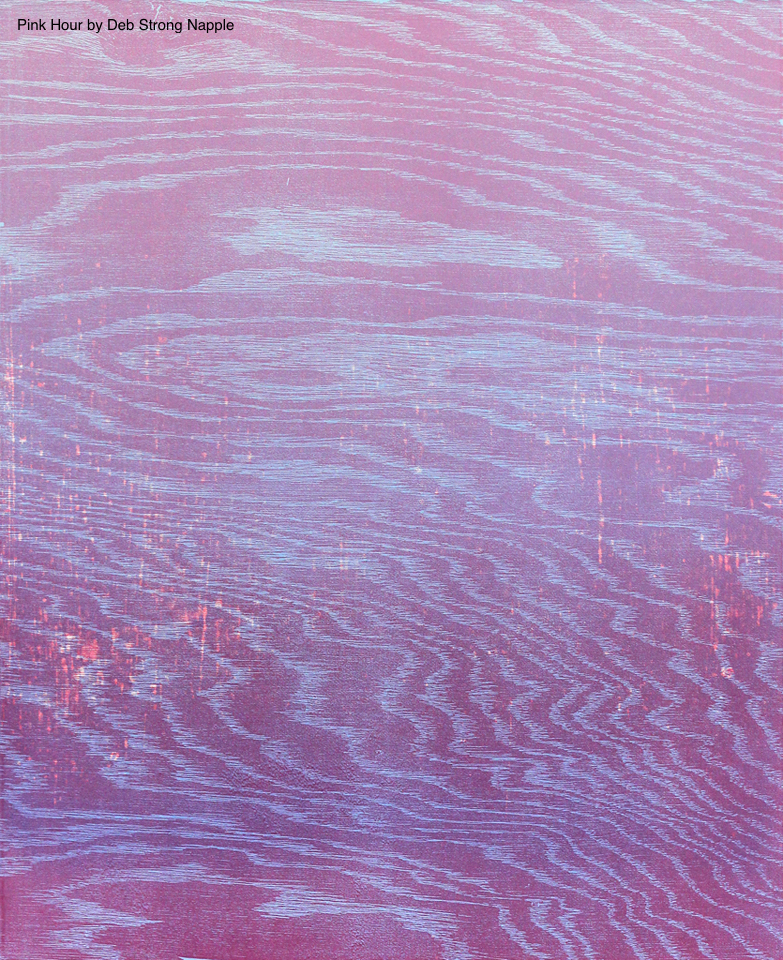 "Pink Hour   Woodcut on Paper  by  Deb Strong Napple   Size: 24 x 31""   $600.00"