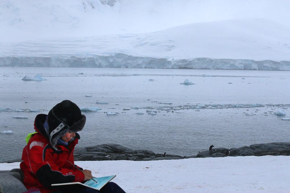 Danielle Eubank on location in Antarctica, Photo Credit: Natalie Patura