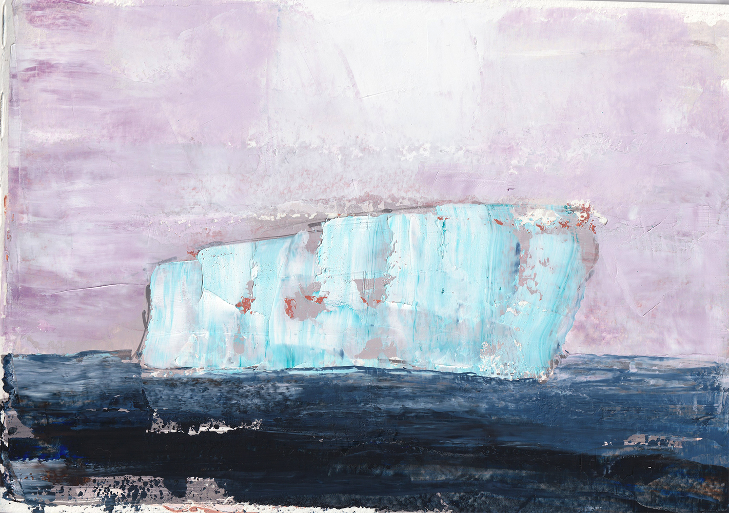 Antarctic Sketch 44 (Book 1) by Danielle Eubank, Oil on paper, 8.25x11.5 inches, 2019