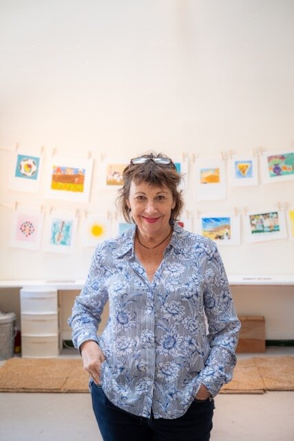 Nancy Willis in her printmaking studio
