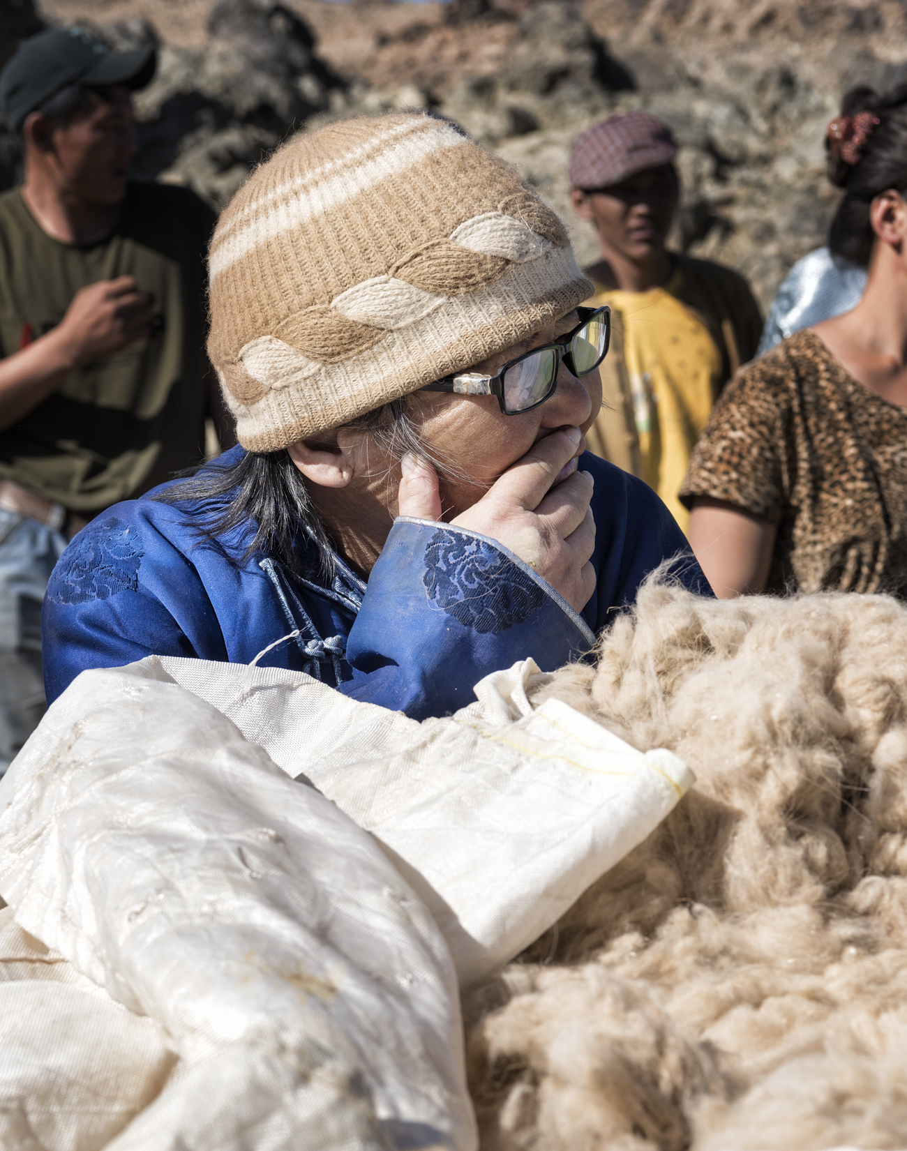A south Gobi cashmere herder participating in a sustainable cashmere meeting
