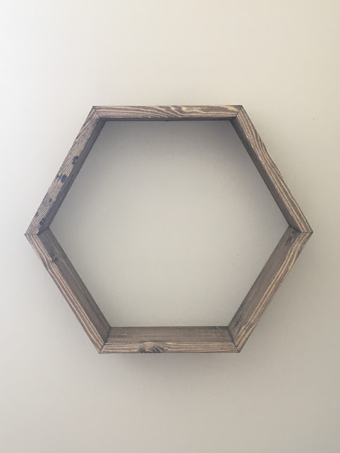 Hexagon Shelf $35 - Dimensions - 18 1/2