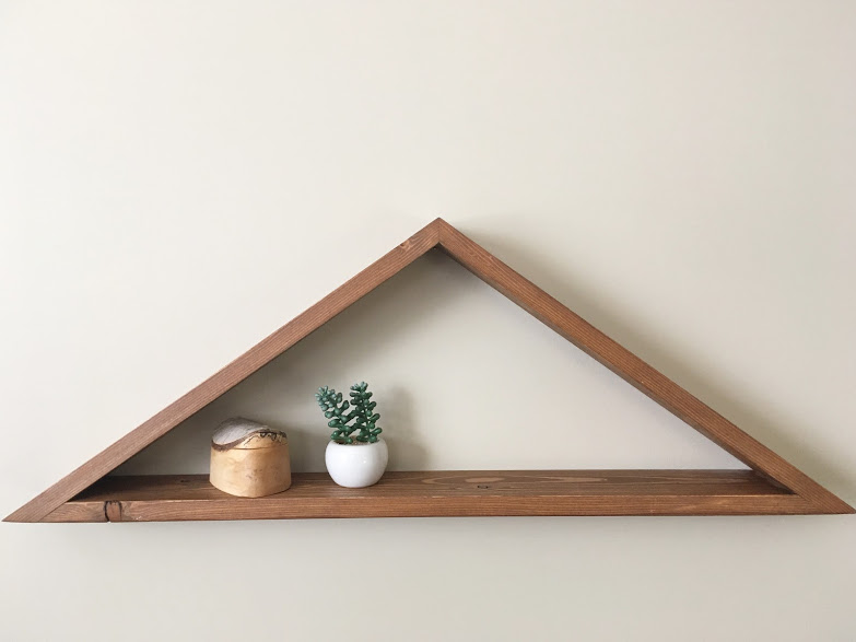 Wide Triangle Shelf $35 - Dimensions - 28