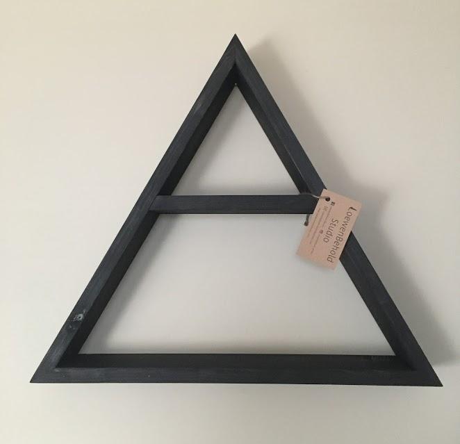 4-Way Triangle Shelf $35 - Black