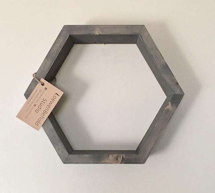 Mini Hexagon Shelf $25 - Light Grey