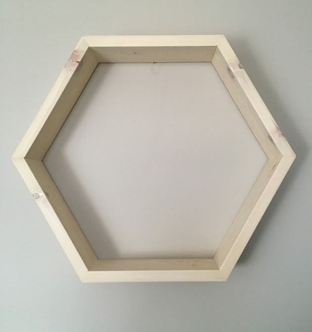 Hexagon Shelf (Large Size) $45 - 3 available in your choice of stain