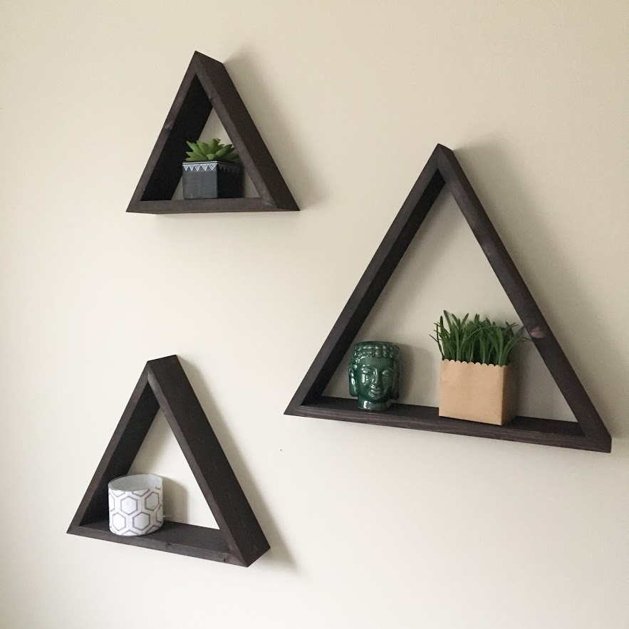 Set of Three Triangles $60 - Chocolate Brown