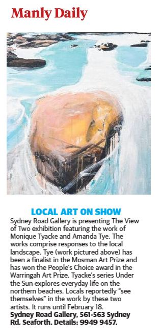 Manly Daily 'Local art on show'.JPG