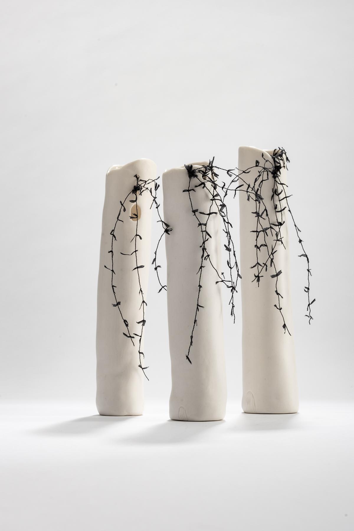 Tracy Dickason  'Threaded Bud vases' $160 | $🔴 | $170