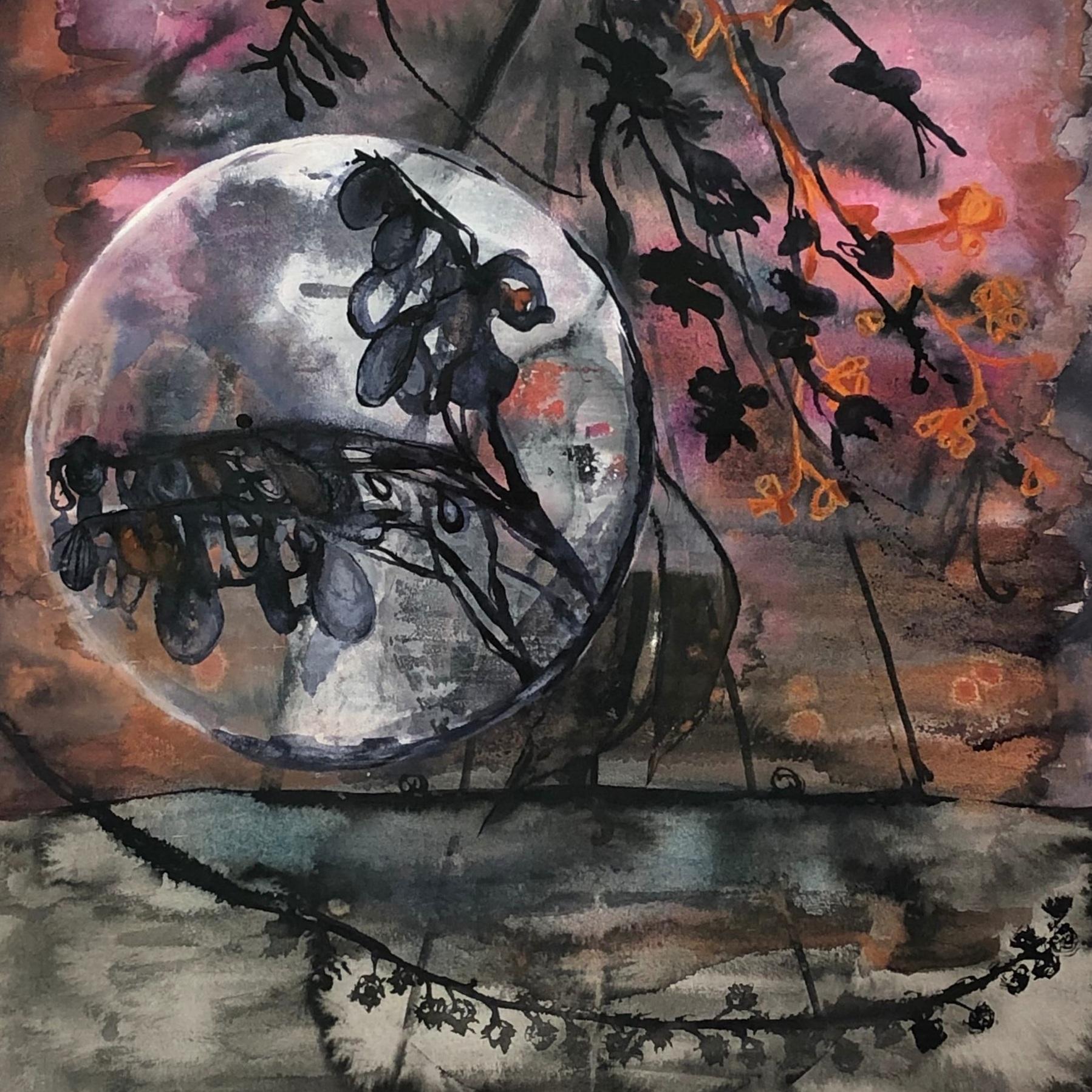 Sarah Montgomery 'Moon rising' $800