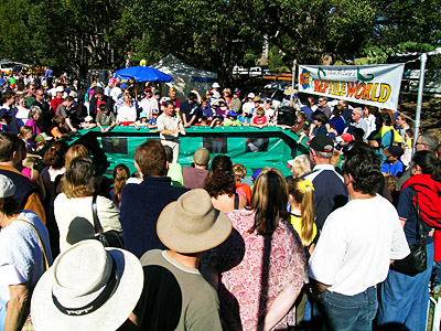 What a crowd! This is me doing a display at the Orara Valley fair in June 2004.  A great day was had by all.