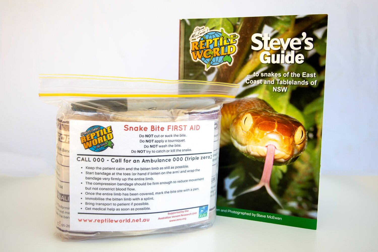 ORDER ONLINE - Order your copy of Steve's Guide to Snakes of the East Coast & Tablelands - NSW and a Snake Bite First Aid Kit today.