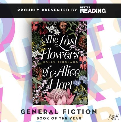 General Fiction Book of the Year   The Lost Flowers of Alice Hart by Holly Ringland