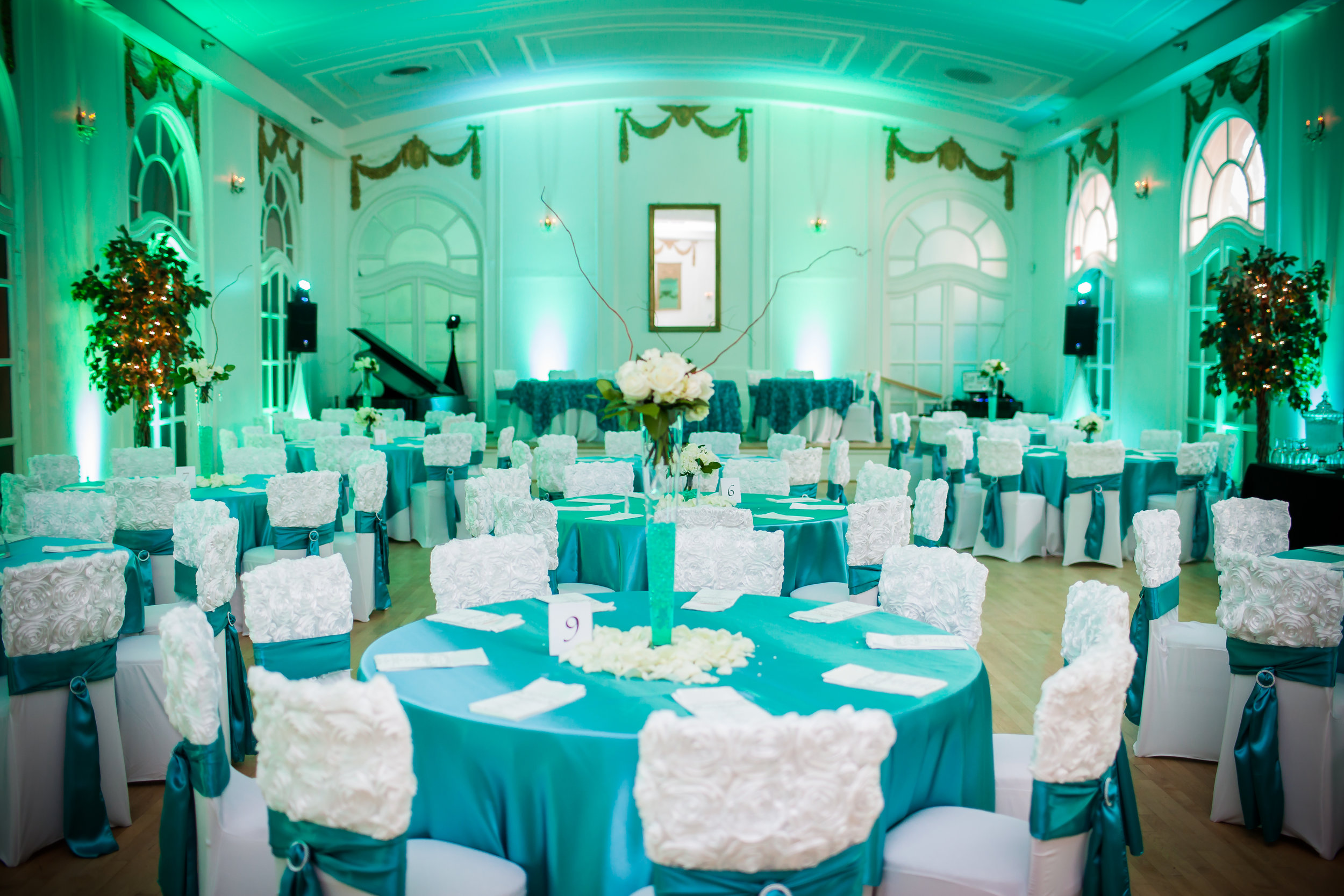 Uplighting - Ultimate Uplighting Package•Full Venue Uplighting•16-32 wireless lights •ColorCombinations available