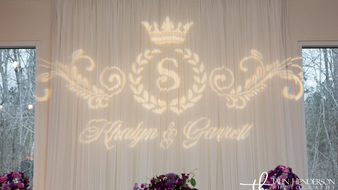 Glass Gobo Monogram - Photographed by  Taun Henderson Photography