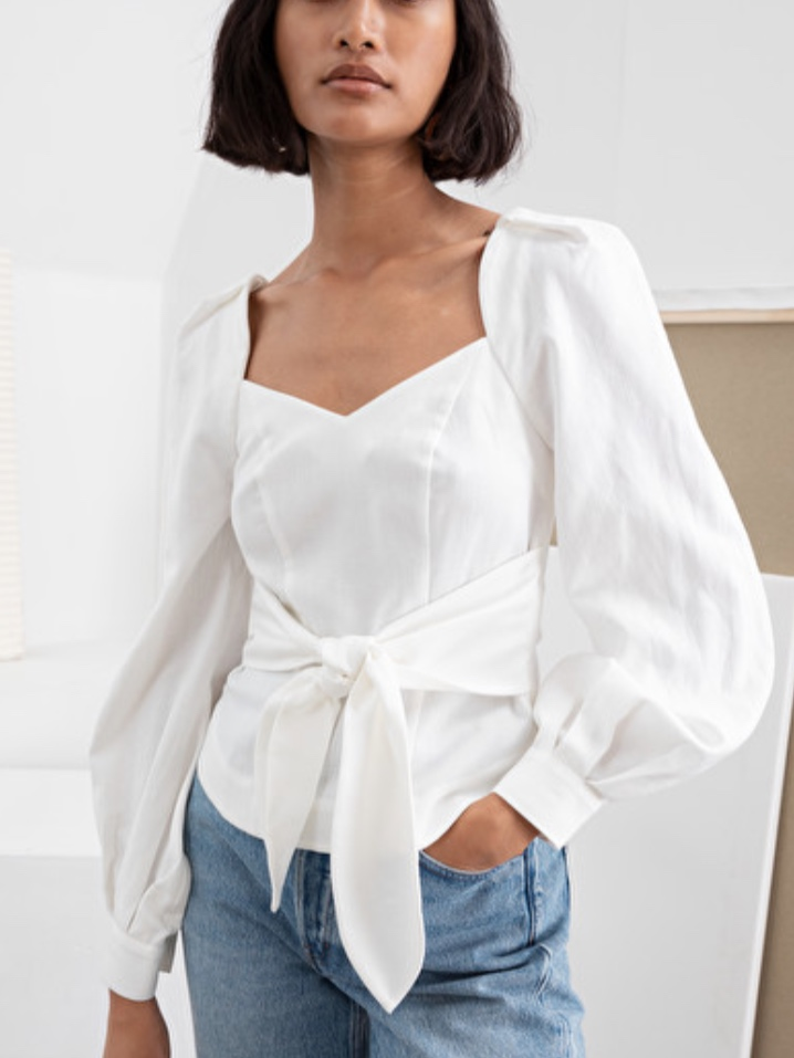 & Other Stories Tie Waist Blouse (£65.00)