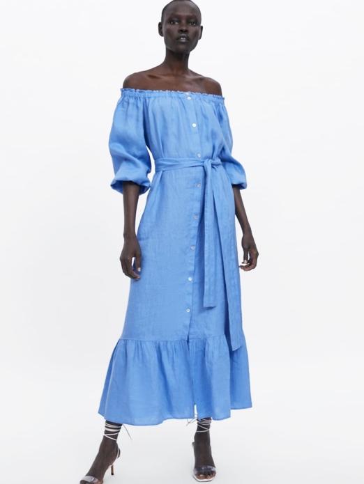 Zara Ruffled Linen Dress (£59.99)